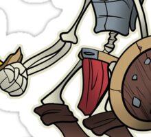 Wulf Wizzard Dark Skeleton Knight Sticker