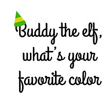 Buddy the elf! Photographic Print