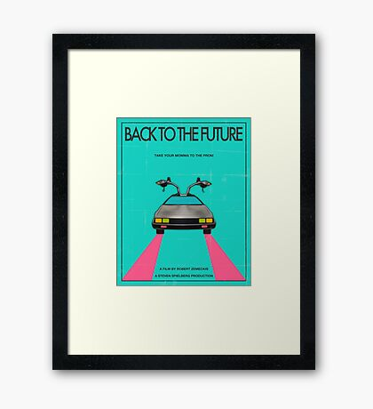Back To The Future Blue Framed Print