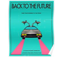 Back To The Future Blue Poster