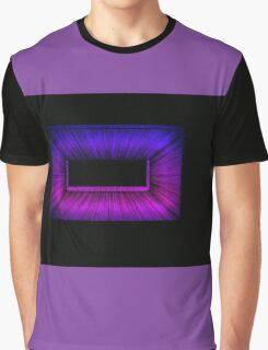 Pink and Blue Graphic T-Shirt