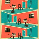 INDOOR CAT by JazzberryBlue
