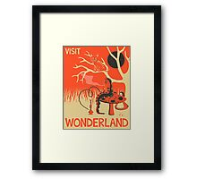 ALICE IN WONDERLAND Travel Poster Framed Print