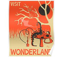 ALICE IN WONDERLAND Travel Poster Poster