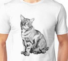 Salt Water Tabby Graphic ~ black and white  Unisex T-Shirt