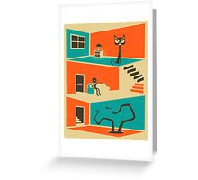 THE STRANGER IN THE BASEMENT Greeting Card