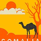 Somalia Travel Poster by JazzberryBlue