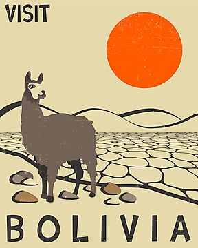 Bolivia Travel Poster by JazzberryBlue