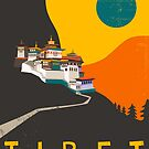 TIBET Travel Poster by JazzberryBlue