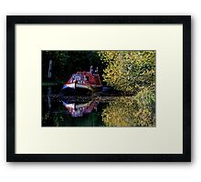 Anyone for coal on the oxford canal Framed Print