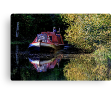 Anyone for coal on the oxford canal Canvas Print