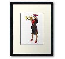 Brass Band - Trumpet Player Framed Print