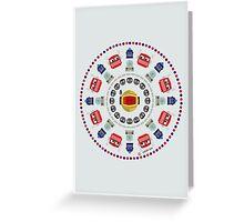 Mandala beep geek Greeting Card