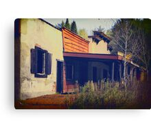 Old West Town Out East Canvas Print