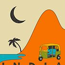 INDIA TRAVEL POSTER by JazzberryBlue