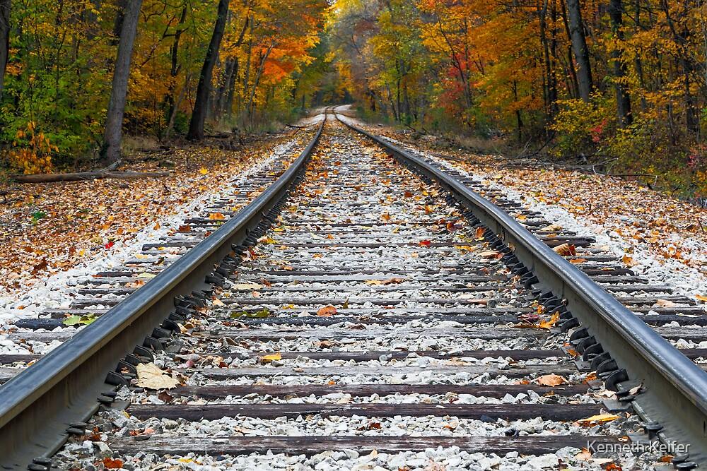 Autumn Rails by Kenneth Keifer