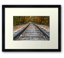 Autumn Rails Framed Print