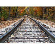 Autumn Rails Photographic Print