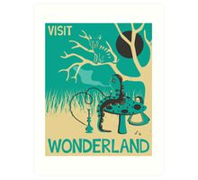 ALICE IN WONDERLAND TRAVEL POSTER Art Print