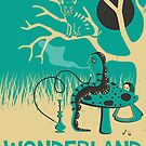 ALICE IN WONDERLAND TRAVEL POSTER by JazzberryBlue