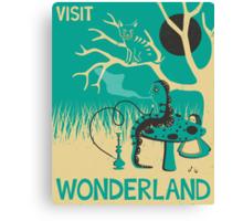 ALICE IN WONDERLAND TRAVEL POSTER Canvas Print