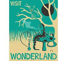 ALICE IN WONDERLAND TRAVEL POSTER Photographic Print