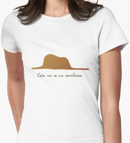 Esto no es un sombrero Womens Fitted T-Shirt