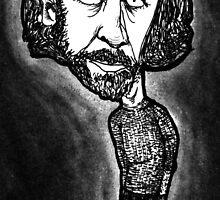 George Carlin by rnrdrawings