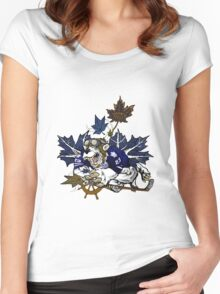 Toronto Maple Leafs Women's Fitted Scoop T-Shirt
