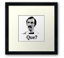 Manuel Que? Framed Print