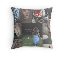 The Story of Alice Throw Pillow