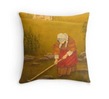 Tuscan Farm At Sunset Throw Pillow
