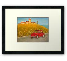 Vintage Red Fiat 500  Framed Print
