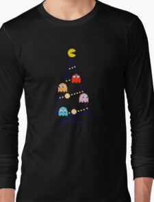 Arcade Retro Christmas Tree of Old Skool Gaming Long Sleeve T-Shirt