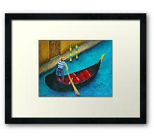 Venetian Gondolier Framed Print