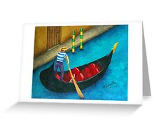 Venetian Gondolier Greeting Card