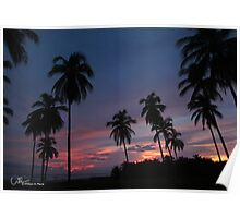 Sunset, Troncones Beach  Mexico Poster