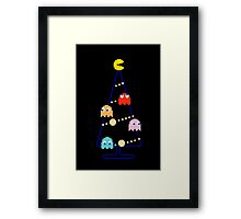 Arcade Retro Christmas Tree of Old Skool Gaming Framed Print