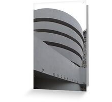Guggenheim Museum, Frank Lloyd Wright Architect, New York City Greeting Card