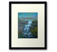 New England Waterfall in Summer Framed Print