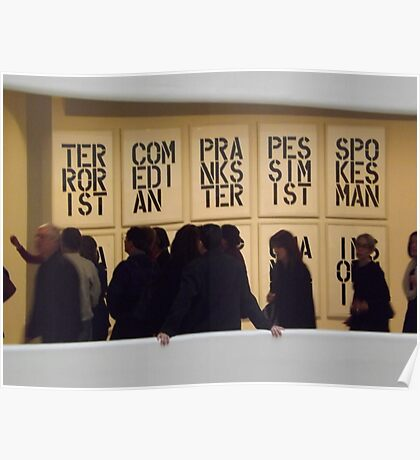 Guggenheim Museum, Christopher Wool Exhibit, Frank Lloyd Wright Architect, New York City Poster