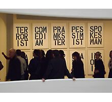 Guggenheim Museum, Christopher Wool Exhibit, Frank Lloyd Wright Architect, New York City Photographic Print