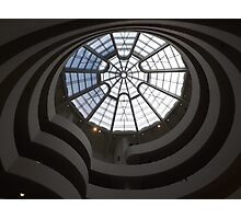 Interior of Guggenheim Museum, Frank Lloyd Wright Architect, New York City Photographic Print