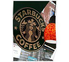 Starbucks Madrid Poster Poster
