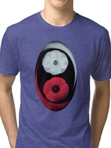 POPPIES ~ PEACE & REMEMBRANCE GO TOGETHER UNITED WE STAND TEE SHIRT Tri-blend T-Shirt