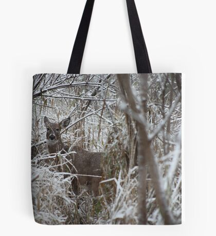 First Snow Doe Tote Bag