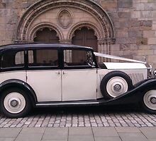 Vintage 1936 Rolls Royce 20/25 Side View by Adrian Wale