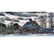 Wintering Barn Photographic Print