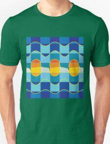 Checkered summer sea Unisex T-Shirt