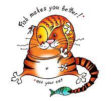 Fish makes u better! (2) Photographic Print